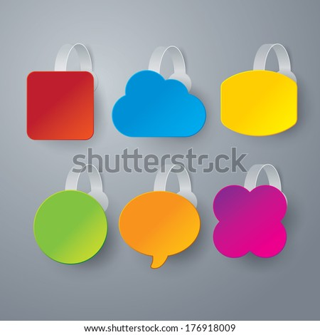 Vector color wobbler set  on gray background. - stock vector