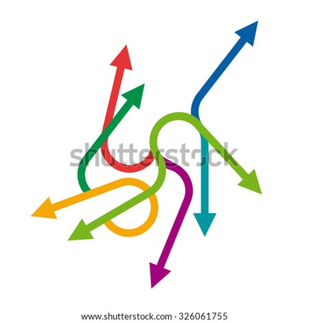 Vector colored arrows background