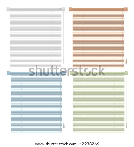 Vector Colored Blinds Isolated On White