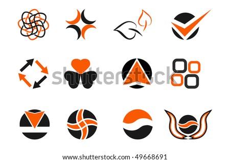 vector colored design elements set - stock vector