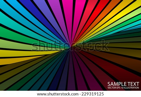 Vector colorful  abstract background illustration - Vector striped abstract colorful  background illustration - stock vector