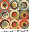 Vector Colorful abstract retro seamless geometric pattern - stock