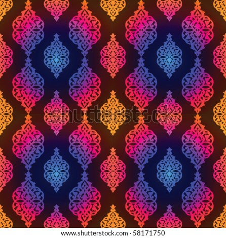 Vector colorful arabic pattern - stock vector