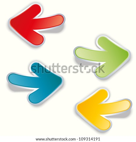 vector colorful arrow stickers