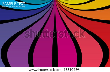 Vector colorful background illustration - Abstract rainbow colorful background template - stock vector