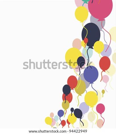 vector colorful balloons - stock vector