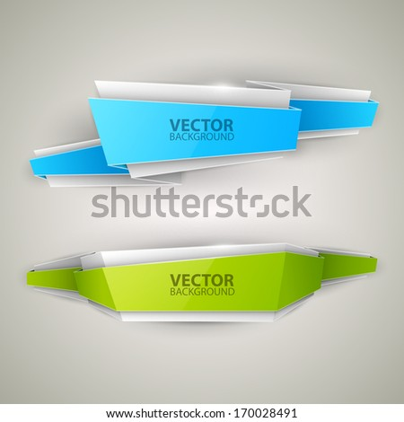 Vector colorful banners set