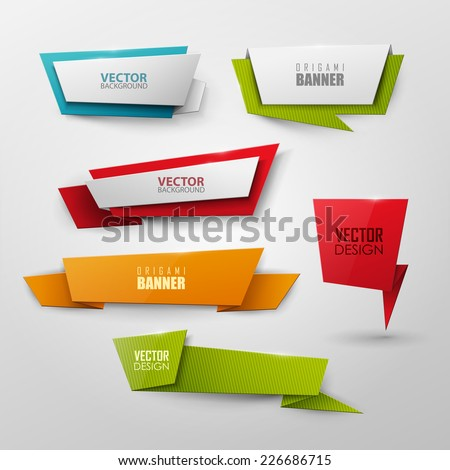 Vector colorful banners set  - stock vector