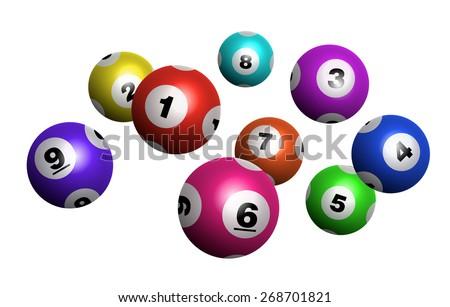 Vector Colorful Bingo / Lottery Number Balls - stock vector