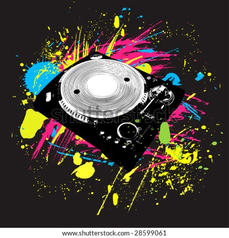 vector colorful bright ink splat