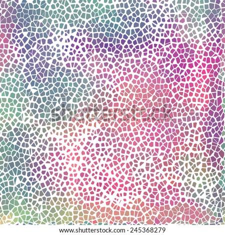 Vector colorful broken tile pattern for your design - website background, poster, banner  - stock vector