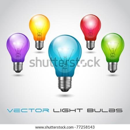 Vector Colorful Bulbs - stock vector