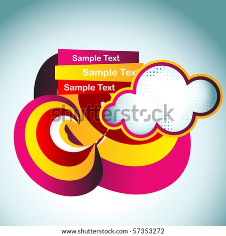 vector colorful cloud abstract artistic design - stock vector