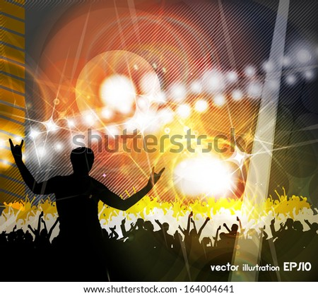 Vector colorful crowd of party people - stock vector