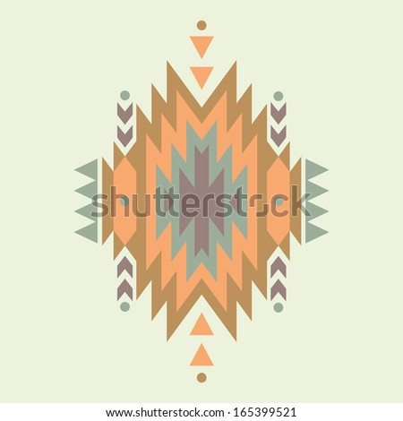 Vector colorful decorative ethnic pattern - stock vector
