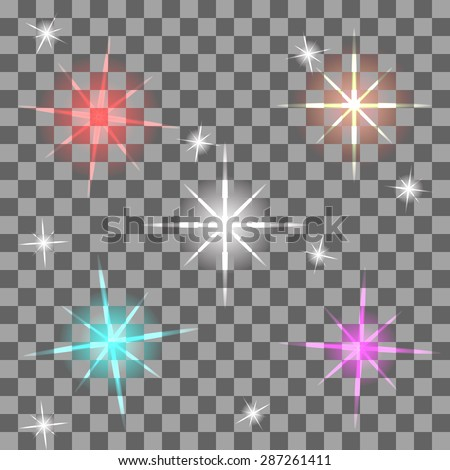 Vector colorful flares for your design - stock vector