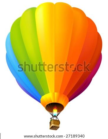vector colorful hot air balloon - stock vector