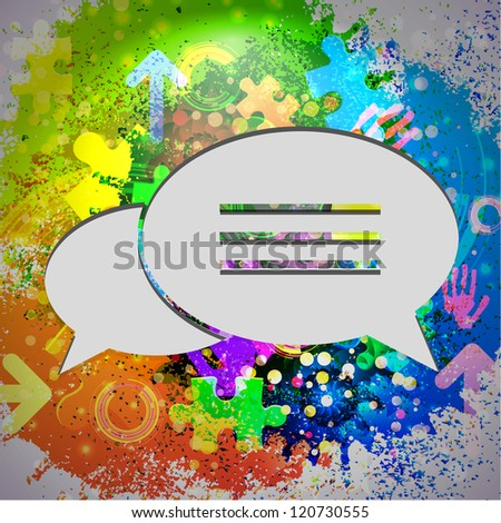 Vector colorful icon abstract background. Eps10 - stock vector