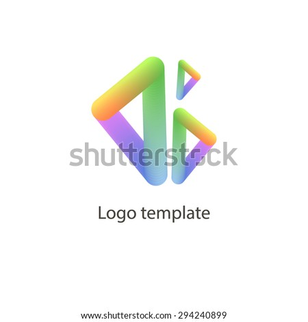 Vector colorful icons. Design elements. Abstract logo icons with triangles. EPS 10 - stock vector