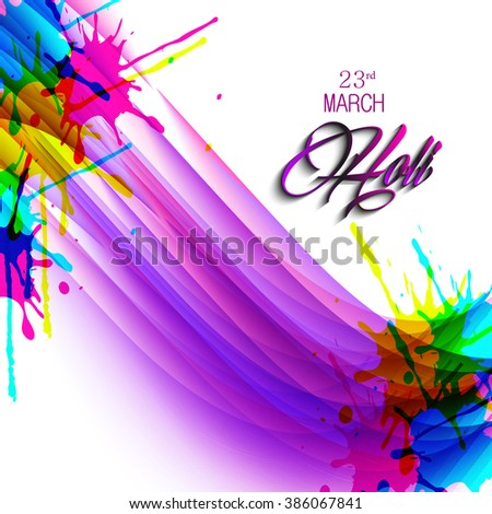 Vector colorful illustration or background and flyer for holi festival, holi celebration.
