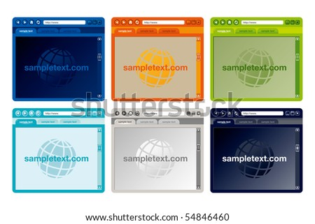 Vector colorful Internet browser - stock vector
