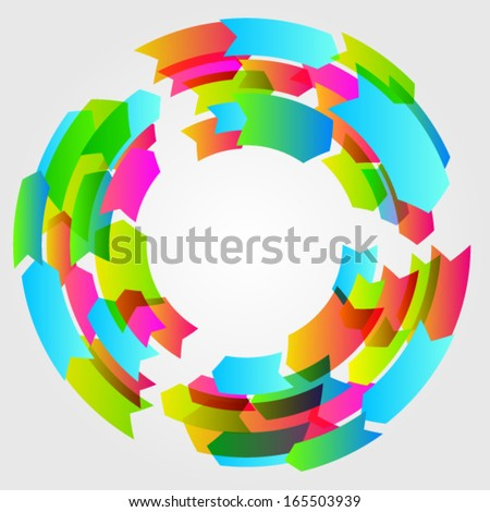 Vector colorful life cycle arrows - stock vector