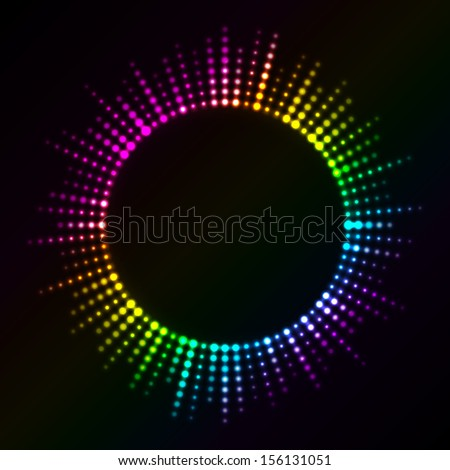 Vector colorful lights - stock vector