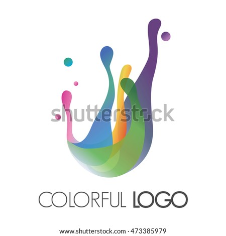 vector colorful logo made of bright splashes