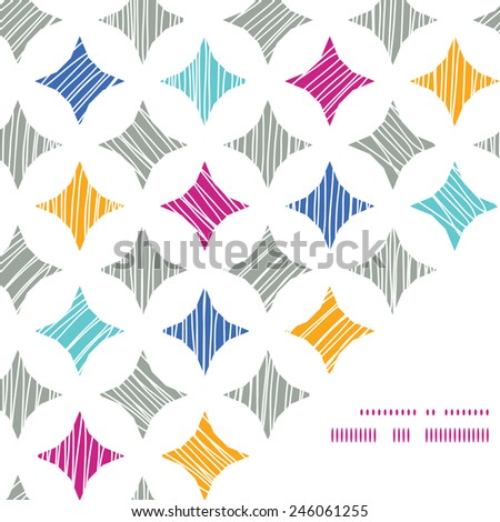 Vector colorful marble textured tiles frame corner pattern background