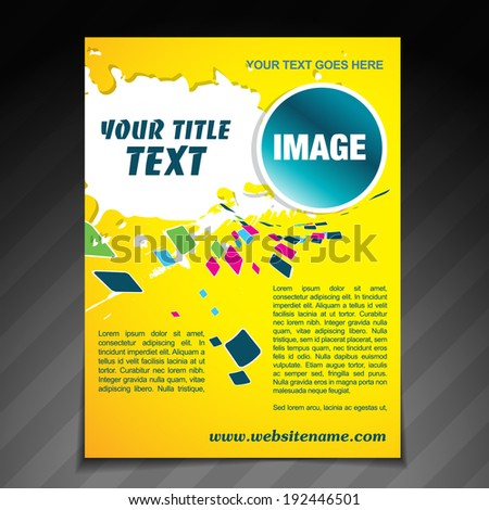 vector colorful mosaic brochure flyer template poster design - stock vector