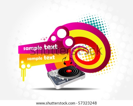 Vector colorful music background illustration - stock vector