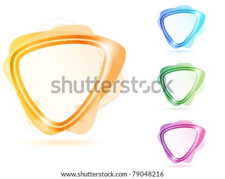 Vector - Colorful Neon Bubble Frame Triangle - stock vector