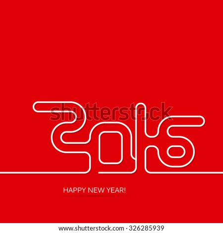 Vector colorful new year card. Modern bright cover with 2016 inscription.  - stock vector