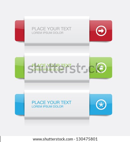 Vector colorful paper banners - stock vector