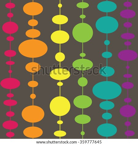Vector colorful  Polka Dot Seamless Pattern. Abstract background elements of different sizes