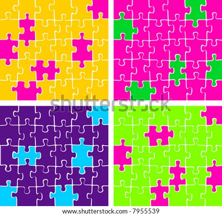 vector colorful puzzle
