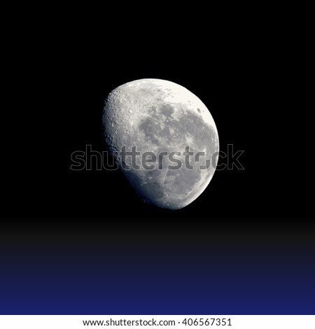 vector colorful realistic satellite planet Moon isolated illustration on dark space background