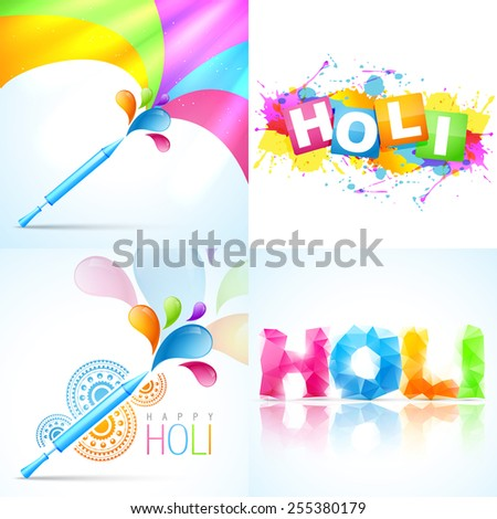 vector colorful set of holi background