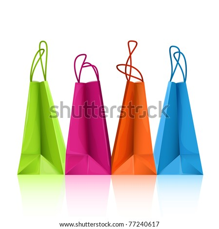 Vector colorful shopping bags - stock vector