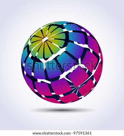 Vector colorful sphere - stock vector
