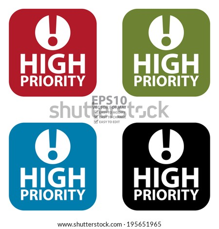 High-priority Stock Images, Royalty-Free Images & Vectors ... Medium Priority Icon