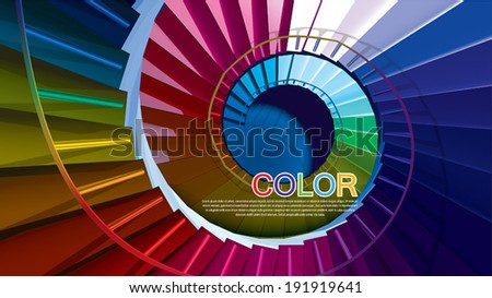 Vector colorful stairs - stock vector