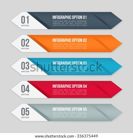 Vector colorful steps - stock vector
