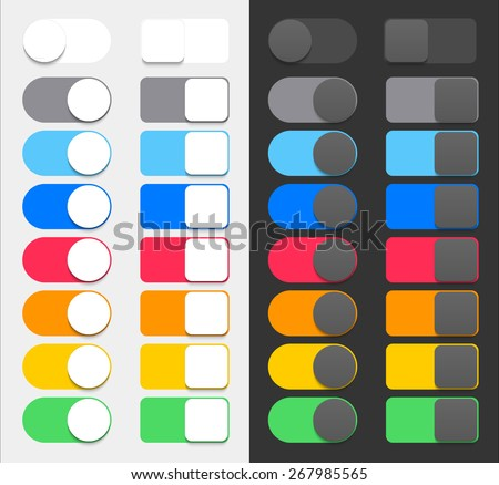 Vector Colorful Switchers - stock vector