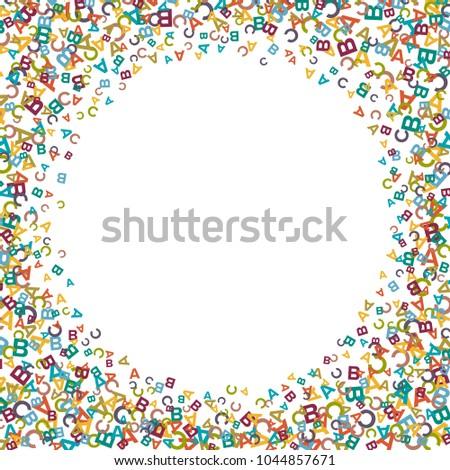 Vector Colorful Text Box Made Alphabet Stock Vector 1044857671