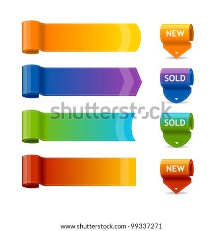 Vector colorful text box templates - stock vector