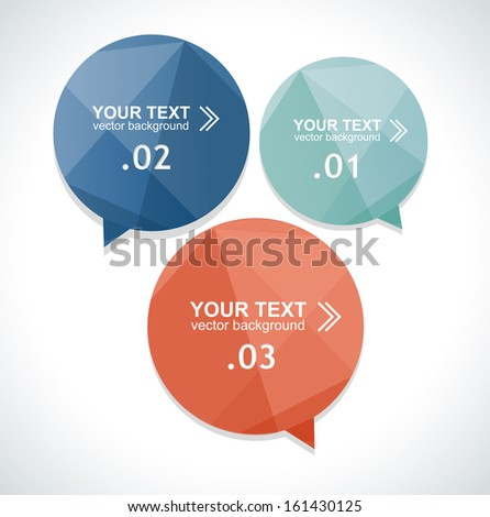 Vector colorful text box, trendy colors - stock vector
