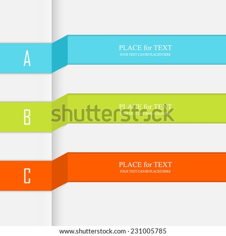 Vector colorful text box, trendy colors. Vector illustration can be used for workflow layout, diagram, web design. - stock vector