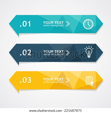 Vector colorful text boxes, trendy colors. Infographic background - stock vector