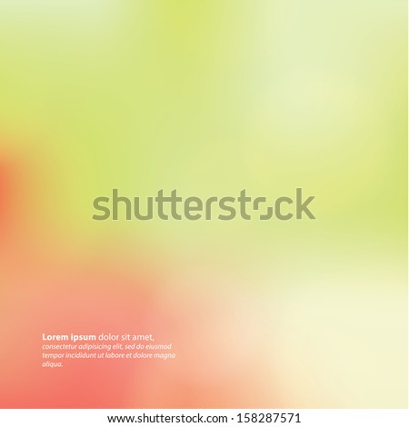 Vector colorfully blurred backdrop. Abstract square background. Sizable and editable vector graphic. Abstract bokeh background. - stock vector